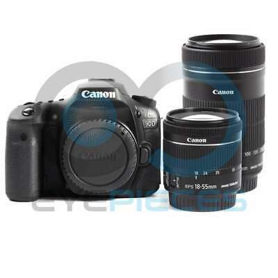 Genuino Canon EOS 90D Camera + EF-S 18-55mm IS STM + EF-S 55-250mm IS STM lens