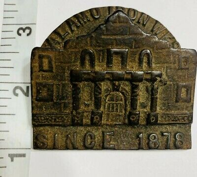 "Vintage Cast Iron Alamo Works ""Since 1878"" Paper Weight USA Made."
