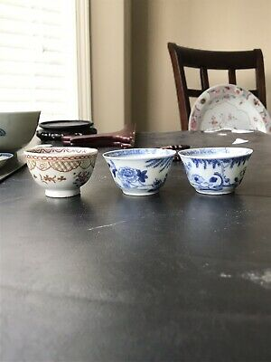 Lot Of 3 Fine Chinese Families Rose Porcelain Tea Cup Possible 18th Century's