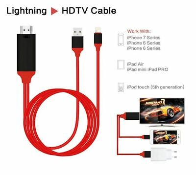Lightning to HDMI Digital AV TV Cable Adapter For iPad iPhone 11/X/XS/6/7/8 Plus