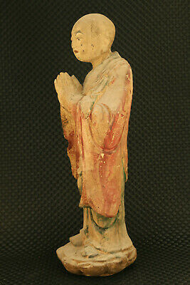 Big old wood buddha figure collectable temple table decoration