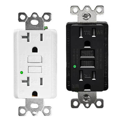 15AMP 20AMP GFCI Safety Outlet Receptacle w/ Wall Plate LED Indicator TR WR ETL