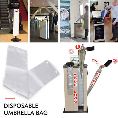 41FB 100pcs Disposable Umbrella Bag Waterproof Hotel Convenient