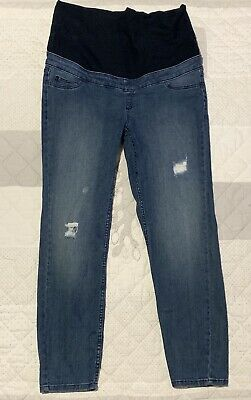 Size 12 Target Distressed Denim Maternity Jeans