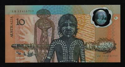 1988 $10 BICENTENARY POLYMER ISSUE NOTE..AB 12 417 717..a/UNC..