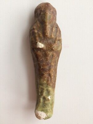 Ancient EGYPTIAN HIEROGLYPHIC Faience SHABTI, LATE PERIOD 664 - 332 BC