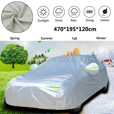 XXL Large 2 Layer Full Car Cover Breathable UV Protection Waterproof Outdoor UK