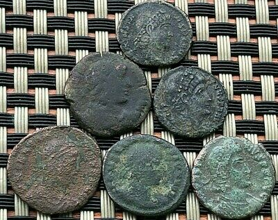 Lot Of 6 Ancient Roman Imperial Bronze Coins Constantine The Great Dynasty