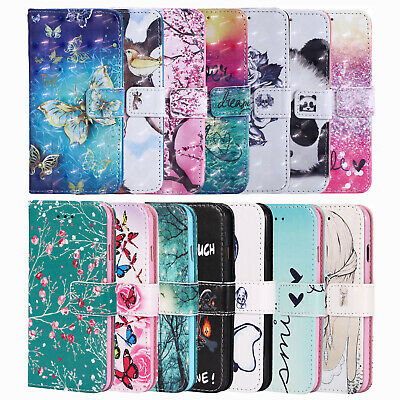 For Samsung Galaxy S9 S10 A10 A40 A50 A70 Wallet Flip Case Stand Magnetic Cover
