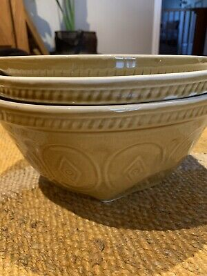 Vintage Ironstone Gripstand Bowls Set 3