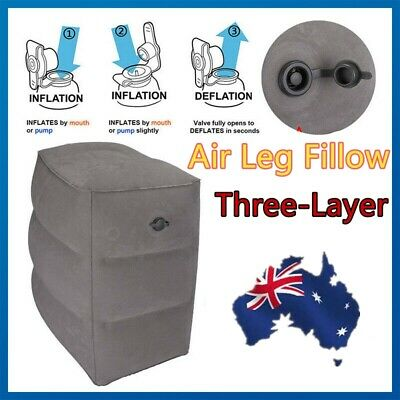 Inflatable Travel Flight Air Pillow for Foot Rest Kids to Sleep on Airplanes AU