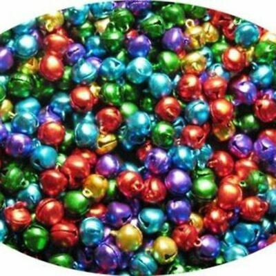 50pcs Loose Beads Mini Jingle Bells Christmas Tree Decor DIY Craft