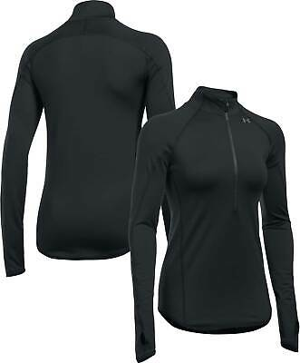 UNDER ARMOUR Women's ColdGear 1/2 Zip Top Black Medium 12 BNWT
