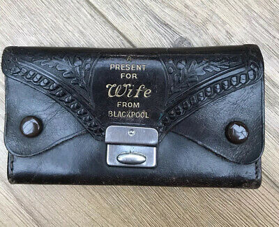 Vintage Souvenir  Leather Purse Gift For WIFE From Blackpool