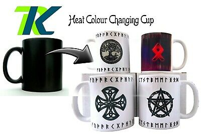 PERSONALISED OWN RUNE Pagan, wiccan, Celtic, Slavic Changing Colour Mug