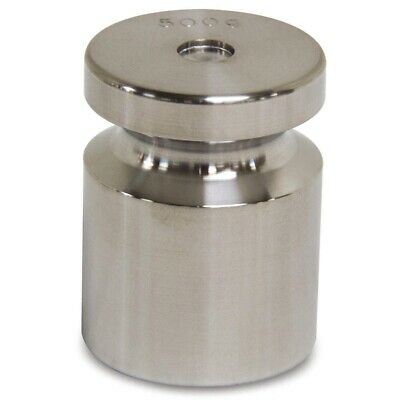 500g Calibration Weight, Cylinder Style, Class F, No Certficate, Stainless Steel