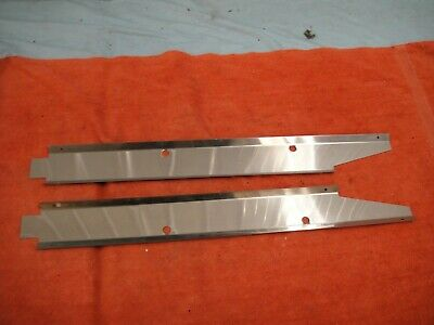 1958-62 Corvette Sill Panel Wiring Covers Stainless