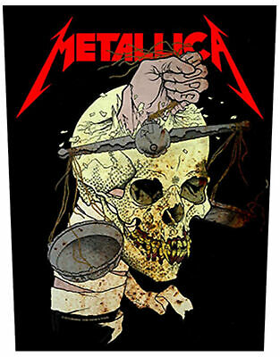 Metallica Back Patch Harvester of Sorrow Official New Black Woven (36cm x 29cm)