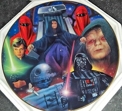 STAR WARS Emperor Palpatine The Hamilton Collection Collectors Plate 1998