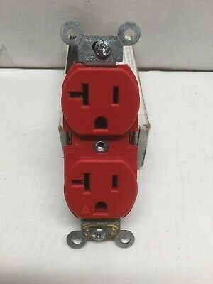 LEVITON 5362-IGR Isolated Ground Duplex Receptacle 2 Pole, 3 Wire, Red, 20A 125V