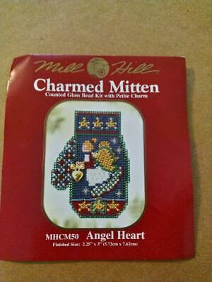 Violet Angel Bead Christmas Ornament Kit Mill Hill 2000 Charmed Angels