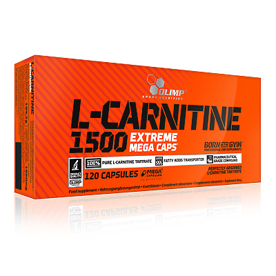 L-Carnitine 1500mg Extreme 120 Mega Capsules | Fat Burner Weight Loss Diet Pill
