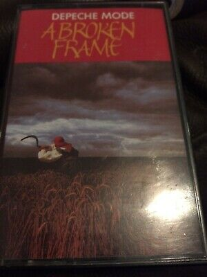 Depeche Mode - Uk Cassette Tape - A Broken Frame - Original Red Paper Labels