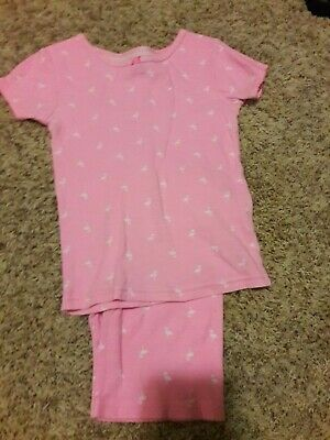 girls size 5 short sleeve two piece Carter's pajamas