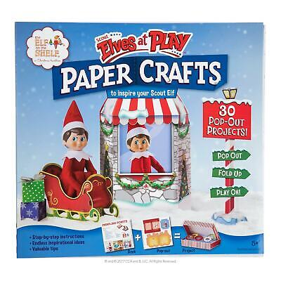 Elf On The Shelf Scout Elves at Play Paper Crafts Activity Book 3D Props