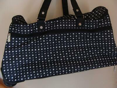 New Thirty-One Wheels-Up Roller  Ditty Dot Rolling Duffel Luggage Carry-On