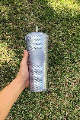 STARBUCKS 2019 Platinum Studded Cold Cup Tumbler WINTER HOLIDAY EDITION 24oz