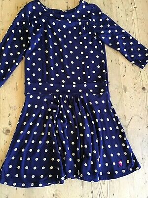 Girls Spotty Drop Waisted Jersey Dress from Joules - Age 5-6 years