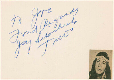 """Jay """"Tonto"""" Silverheels - Autograph Note Signed"""