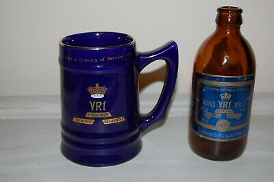 Vintage Beer Stein and Beer Bottle from Royal Canadian Regiment Canadian Army