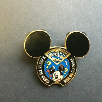WDW - Create-A-Pin What In the World Will We Do Today? Spinner Disney Pin 65916