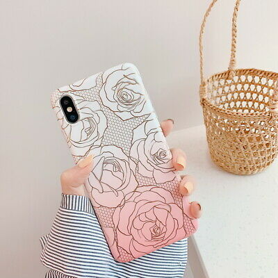 Rétro Gradiente Rosa Modello Gomma Morbida Custodia Cover per IPHONE XS Max XR X