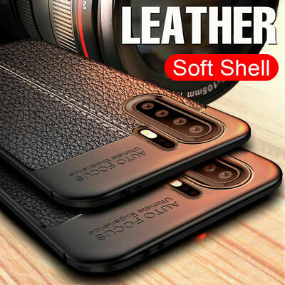 For Huawei P30 P20 Pro Lite Mate20 Shockproof Rubber TPU Leather Back Case Cover