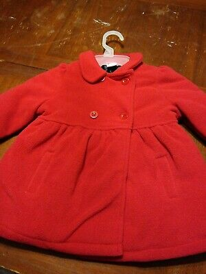 Girls Toddler Healthtex Essential Red  Peacoat Jacket Coat 4T  preowned EUC