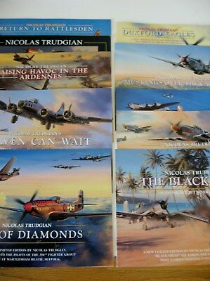 """/""""NO TRAINS TODAY/"""" 11/"""" x 16.5/"""" Stan Stokes Aviation Art Print USAAF A-26 Invaders"""
