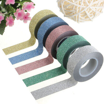 DIY Gift Wrapping Craft Tape Label Sticky Paper Glitter Powder Masking Adhesive