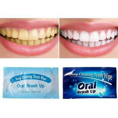 Dental Brush Up Whitening Finger Strips Wipes Tooth Oral Clean Deep Care X8 Y0P9