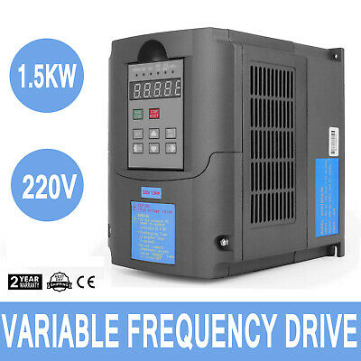1.5KW 2HP Single To 3 Phase Variable Frequency Drive Inverter CNC VFD VSD 220V
