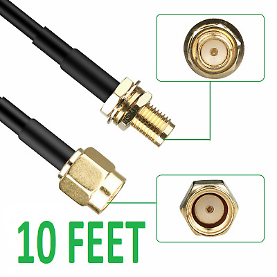 3-Meter 10ft Magnetic Extension Plate Stand for RP-SMA Male Antenna