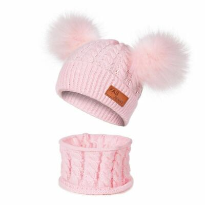 Winter Baby Hat And Scarf  For Children Warm Hat And Snood Girls Boys Kids Scraf