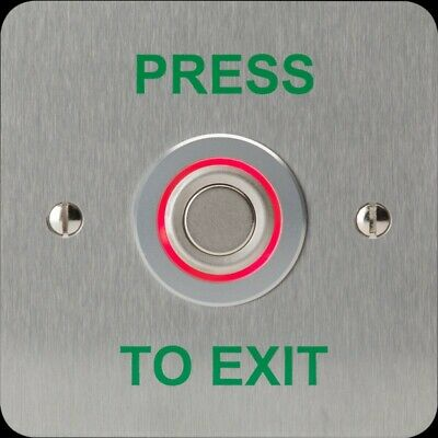 Bi Colour illuminated Stainless Steel Request To Exit Button RTE-SS