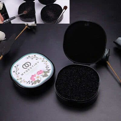 Black Makeup Brush Clean Eye Shadow Sponge Cleaner Make Up Brushes Tool BoxBB
