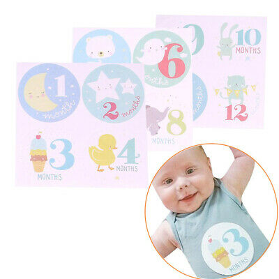 Girl Party Accessory Baby Shower Lable Monthly Stickers Newborn Decoration