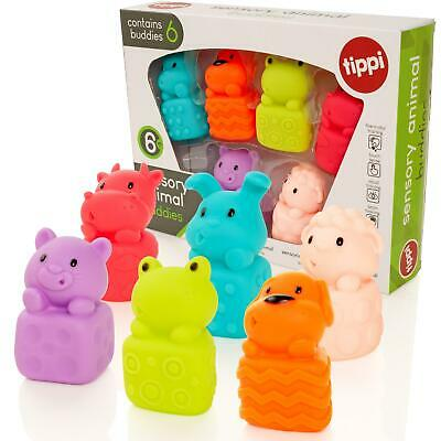 Tippi 6 Sensory Animal Buddies Soft Baby/Toddler Play Toy Figures From 6 Months
