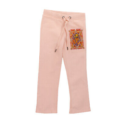 RRP €245 PHILIPP PLEIN PETITE Jogger Trousers Size 4Y Patched Bird Embellished