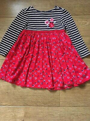 Jojo Maman Bebe Floral Winter Cord Dress Age 4-5